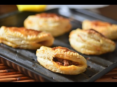 Empanadas de hojaldre rellenas de carne con queso - Receta fácil de preparar