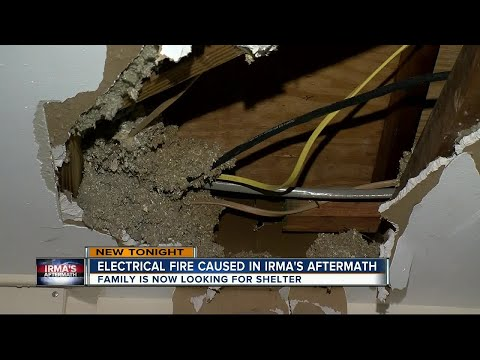 Electrical fire caused in Irma's aftermath