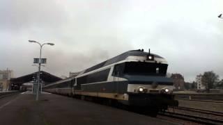 CC 72084 départ de la gare de Troyes