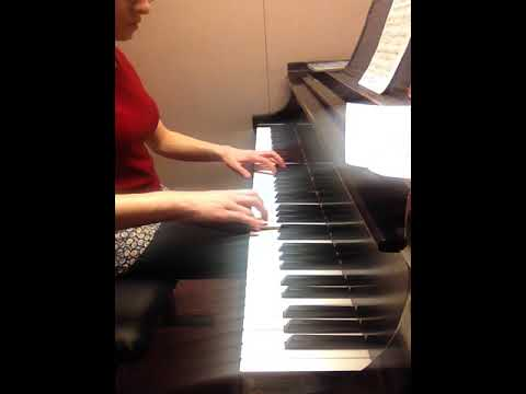 Mozart Sonata K. 330. Practicing for piano jury in early 2014.