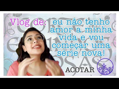 Vlog: lendo Corte de Espinhos e Rosas (ACOTAR) pela PRIMEIRA VEZ!!