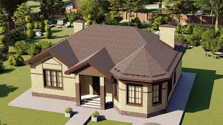 Проект дома 114-C, Площадь дома: 114 м2, Размер дома:  13,4x11,2 м