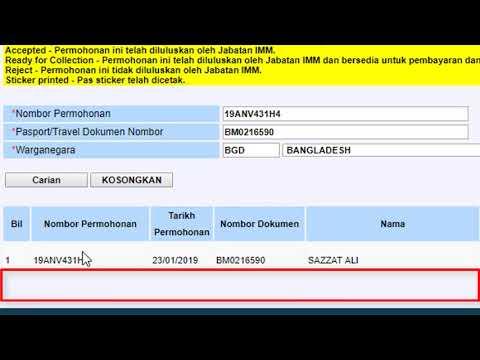 HOW TO CHECK VISA MALAYSIA /PERMIT MALAYSIA - смотреть