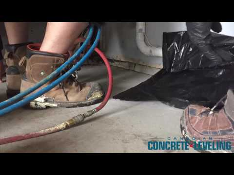 The customer was concerned with his garage concrete floor not being leveled. During the winter time the...