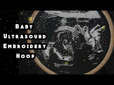 Baby ultrasound embroidery hoop