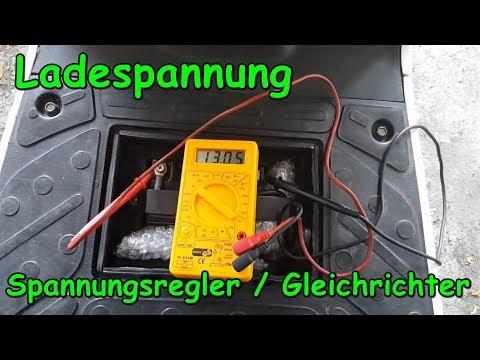 Ladespannung messen und Gleichrichter/Spannungsregler prüfen am Roller   Rollerfix