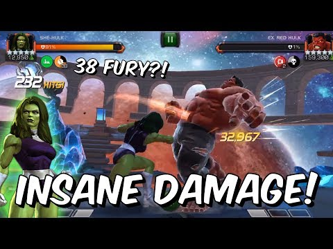 Buffed She-Hulk has INSANE Damage in Labyrinth of Legends! - Red Hulk - Marvel Contest Of Champions