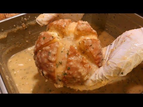 cream garlic bread 강릉 육쪽 마늘빵 / korean street food