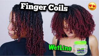 I TRIED FINGER COILS ON MY TYPE 4 NATURAL HAIR USING WETLINE XTREME GEL