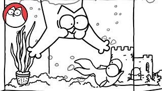 Fish Tank - Simon's Cat | B&W