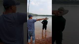 Cần Thủ Già Lên Cá Chẻm Hồ Eakao Dak Lak