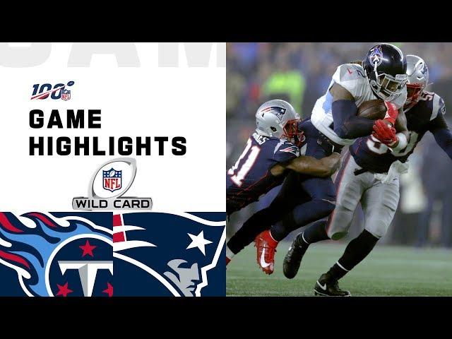 Titans vs. Patriots Wild Card Round Highlights | NFL 2019 Playoffs