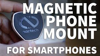 Magnetic Cell Phone Holder - Naztech MagBuddy Universal Air Vent Vehicle Mount for Smartphones