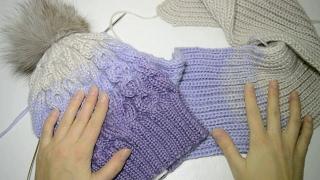 Как связать шарф , снуд. Узор для вязания аксессуаров . Вязание спицами. Мастер класс.