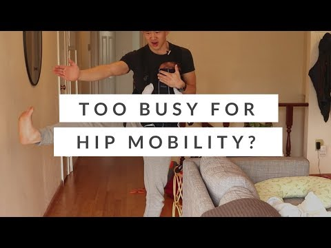 Too busy for hip mobility? Try this hip stretching routine with a baby.