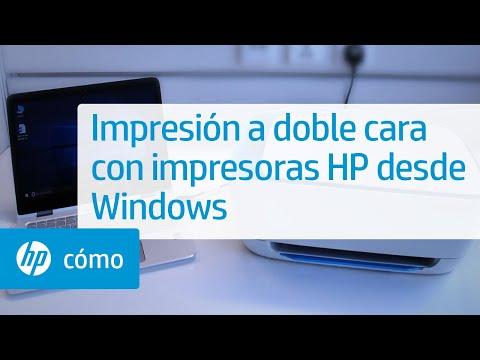 Impresión a doble cara con impresoras HP desde Windows