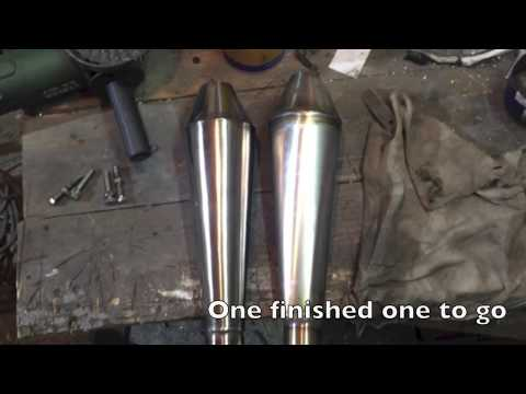 Mini Moto Custom Exhaust from scratch with MUFFLER - смотреть онлайн