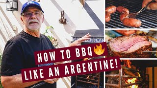 HOW TO BBQ LIKE AN ARGENTINE!   Argentinian Asado Barbecue Lesson in Mendoza, Argentina 🇦🇷