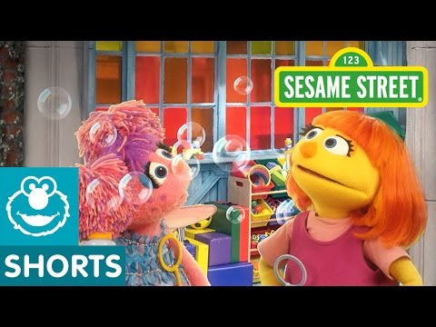Sesame Street: Making Bubbles! | Julia & Abby Cadabby