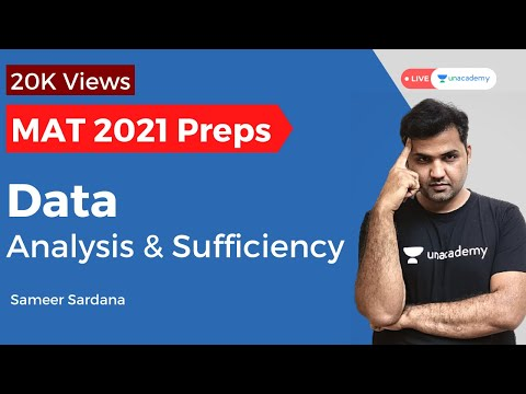MAT 2020 | Data Analysis and Sufficiency by Sameer Sardana ...