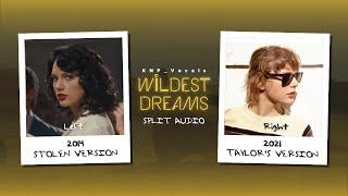 Taylor Swift - Wildest Dreams (Old vs Taylor's Version Split Audio Comparison)