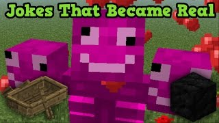 Minecraft JOKES That Became REAL Features?!