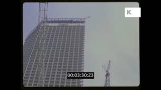 Skyscraper Under Construction, 1970s, 1980s, USA, HD