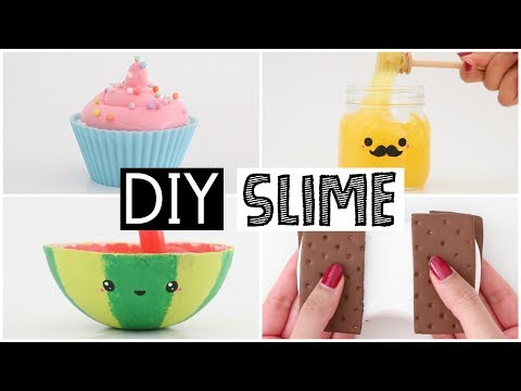 MAKING 4 AMAZING DIY SLIMES - Four EASY Slime Recipes!