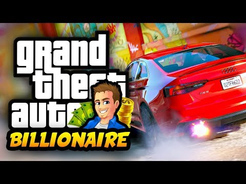 GTA 5 BILLIONAIRE LIFE MOD I Wreck My Audi RS5 While Racing - LIVING THE LUXURY LIFE!