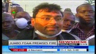 Fire Destroys Property Worth Millions In Jumbo Foam Mattresses Company In Kisumu