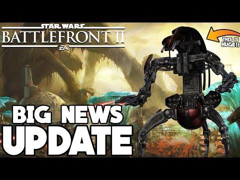 BIG NEWS! Updated Roadmap, Droidekas CONFIRMED, HUGE Clone Wars Update Soon! Star Wars Battlefront 2