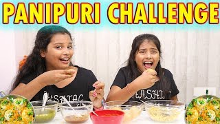 Pani Puri Challenge | Golgappa Eating Challange L Twin Sisters Anu And Ayu