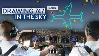Epic! Drawing a 747 on LAST EL AL 747 Flight