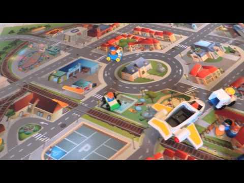 Spielteppich Stadt - Strassenteppich - Straßen Spielteppich Kinderteppich