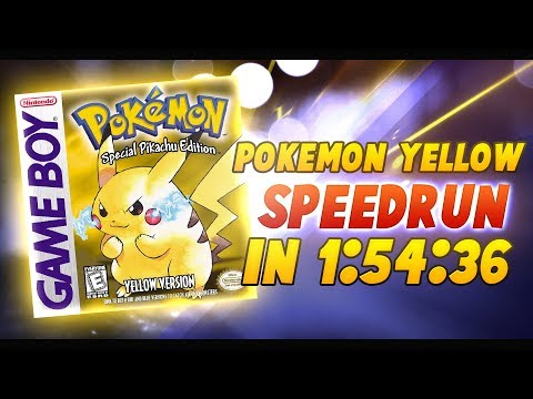 Oglądaj: Pokemon Yellow Speedrun in 1:54:36 (Current World Record)