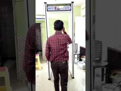 Nine Zone Door Frame Metal Detector