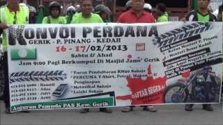 preview picture of video 'Konvoi Pemuda PAS Gerik [Gerik - P. Pinang]'