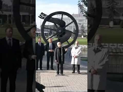 Торжественное открытие скульптурной композиции «Беларусам замежжа»