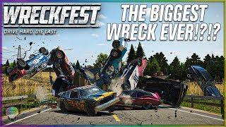 THE BIGGEST WRECK EVER!?!? [Farmlands Stage 1]   Wreckfest