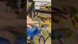 Double heart fork tine curling tutorial, Flatwearable Artisan Jewelry