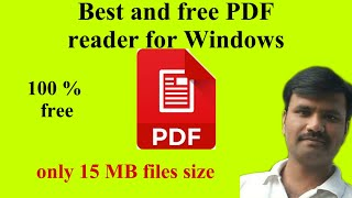 Best and free pdf reader for Windows
