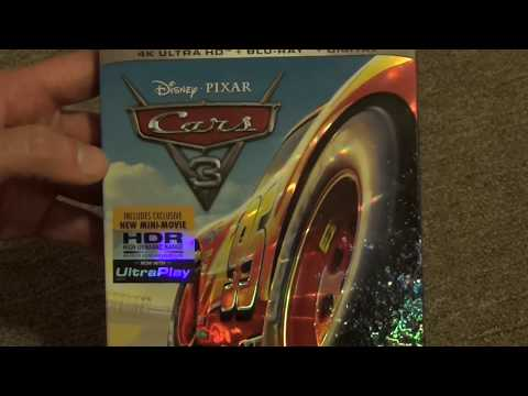 Disney Pixar Cars 3 4k UltraHD Blu-Ray Ultimate Collector's Edition Unboxing