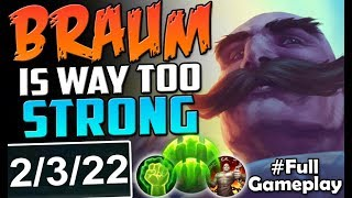 Gambar cover BRAUM IS WAY TOO STRONG | BEST SUPPORT? | New Runes Braum SUPPORT | SEASON 8 RANKED Full Gameplay