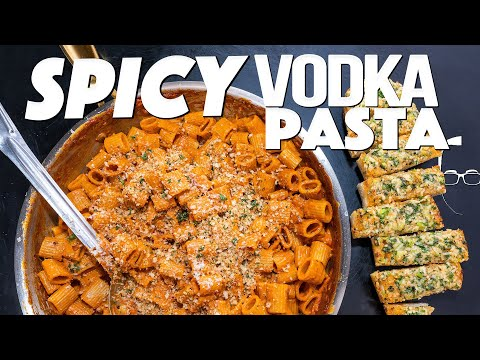 SPICY PASTA AND GARLIC BREAD DINNER | SAM THE COOKING GUY