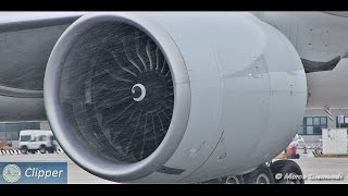 GE90-115B start-up! Incredible sound from very close!
