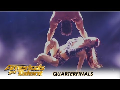 Duo Transcend: Guy Recreates The Act That Nearly KILLED His Wife | America's Got Talent 2018 (видео)