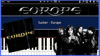 Sucker - Europe (Synthesia) [Tutorial] [Instrumental Video] [Download]