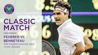 Roger Federer vs Julien Benneteau | Wimbledon 2012 third round | Full Match