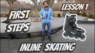 How to ROLLERBLADE or start INLINE SKATING - Lesson 1