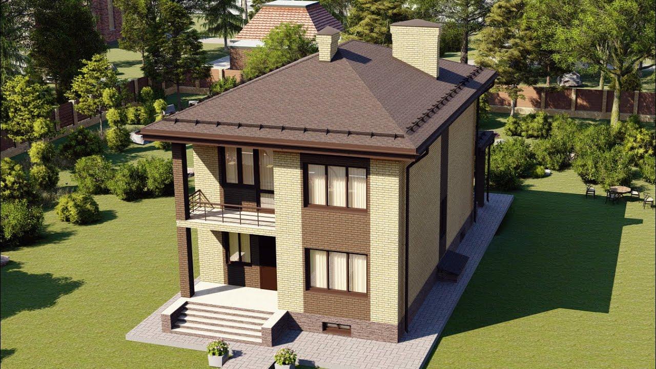 Проект дома 135-A, Площадь дома: 135 м2, Размер дома:  8,1x16,1 м
